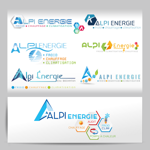 Propositions de logos - Alpi Energie / C+ Communication