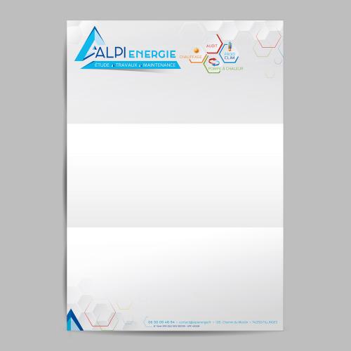 Tête de lettre - Alpi Energie / C+ Communication