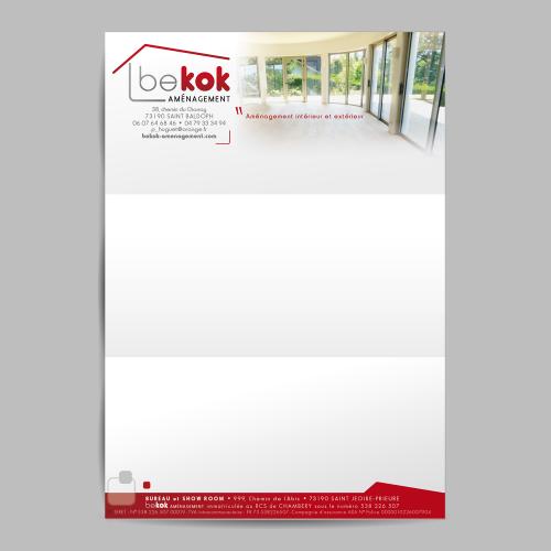 Tête de lettre - Bekok Aménagement / C+ Communication