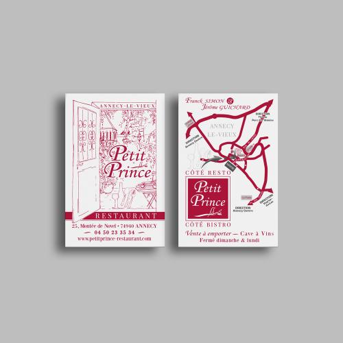 Carte commerciale - Le Petit Prince / C+ Communication