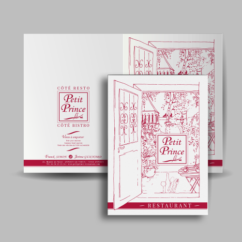 Porte menu - Le Petit Prince / C+ Communication