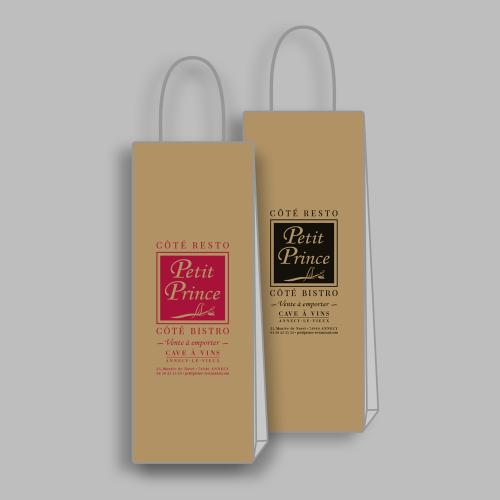 Sac en kraft pour bouteille de vin - Le Petit Prince / C+ Communication