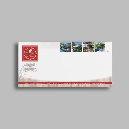 Carte de correspondance - Auberge de Savières / C+ Communication