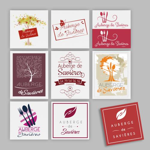 Propositions de logos - Auberge de Savières / C+ Communication