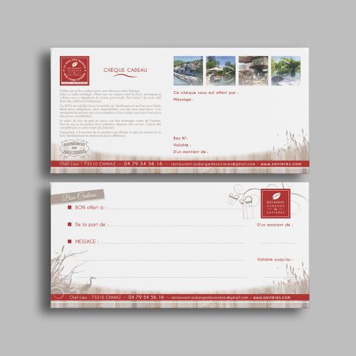 Chèque cadeau - Auberge de Savières / C+ Communication