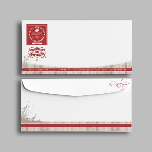Enveloppe - Auberge de Savières / C+ Communication