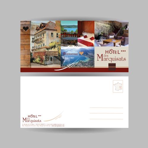 Carte de correspondance - Hôtel des Marquisats / C+ Communication