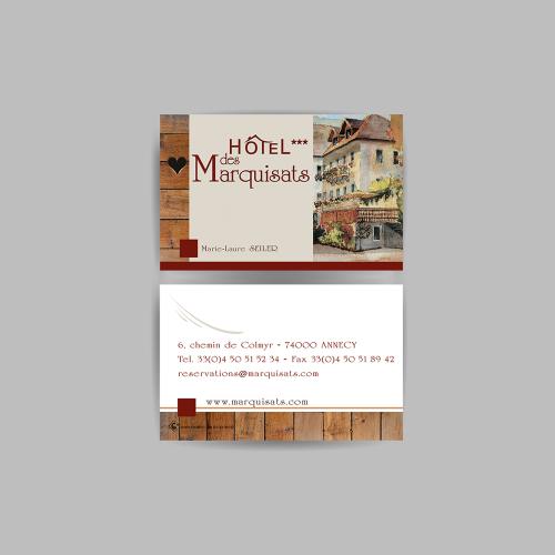 Carte commerciale - Hôtel des Marquisats / C+ Communication