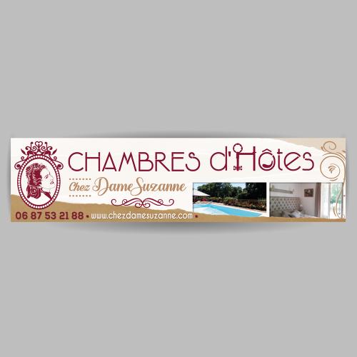 Panneau - Chez Dame Suzanne / C+ Communication