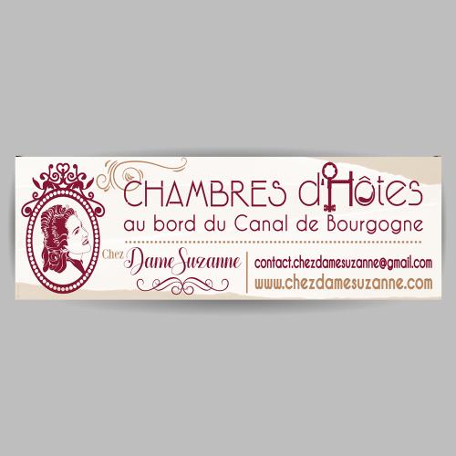 Banderole signalétique - Chez Dame Suzanne / C+ Communication