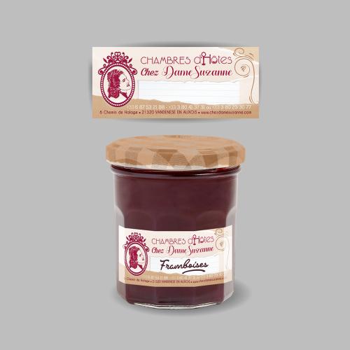 Étiquette pour pot de confiture maison - Chez Dame Suzanne / C+ Communication
