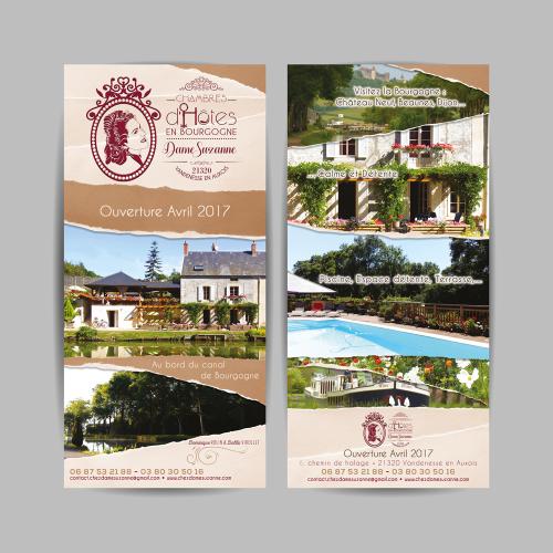 Flyer d'ouverture - Chez Dame Suzanne / C+ Communication