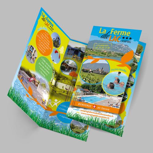 Dépliant 2 volets - La Ferme du Lac / C+ Communication