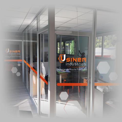 Habillage vitres intérieures - Usinéa / C+ Communication