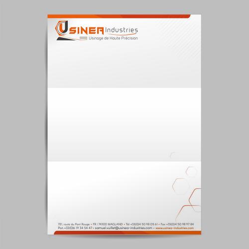 Tête de lettre - Usinéa / C+ Communication