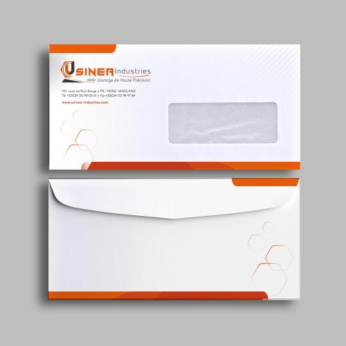 Enveloppe avec fenêtre - Usinéa / C+ Communication