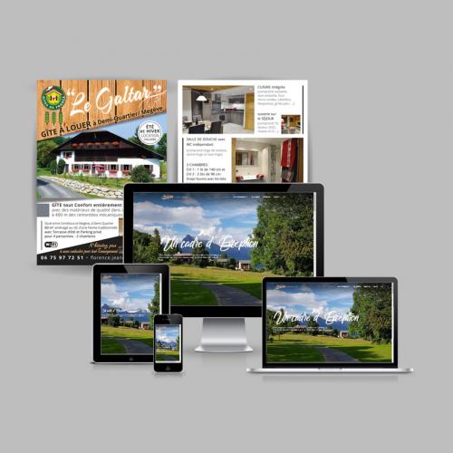 Création de logos et développement d'un site internet avec gestion des tarifs et disponibilités