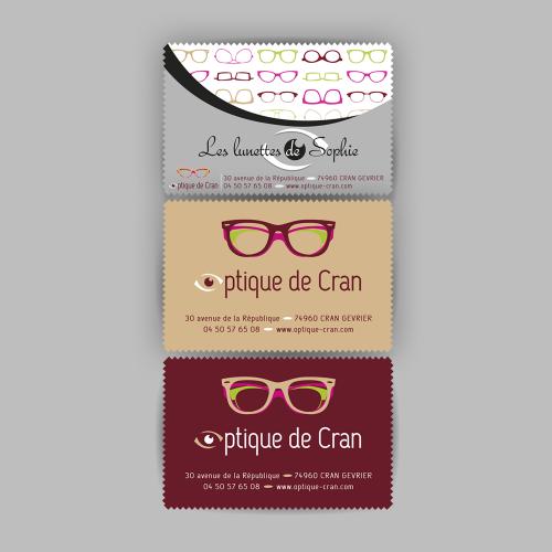 Chiffonnettes à lunettes personnalisées - Optique de Cran / C+ Communication