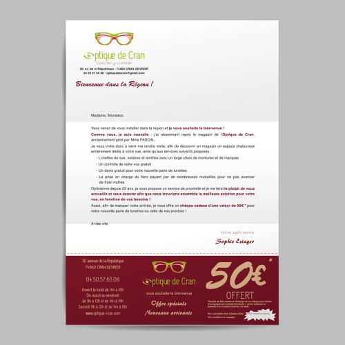 Courrier avec offre promotionnelle - Optique de Cran / C+ Communication