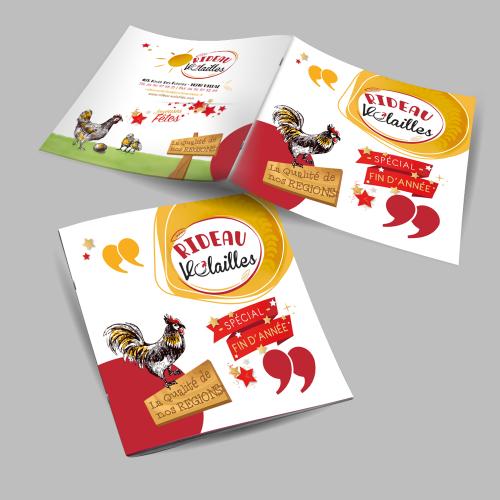 Brochure carrée - Rideau Volailles / C+ Communication