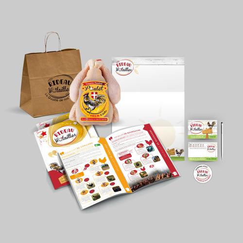 Communication 360° pour un commerce de vente en gros : Charte, Étiquettes, Stand, Sacs papiers, web