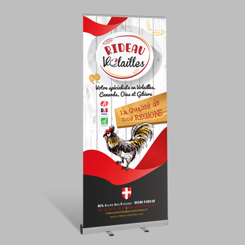 Roll-up Kakemono - Rideau Volailles / C+ Communication