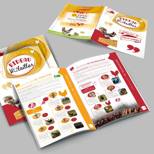 Brochure A4 - Rideau Volailles / C+ Communication