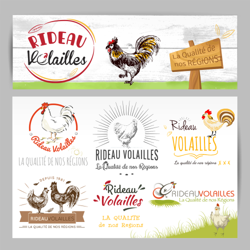 Propositions de logos - Rideau Volailles / C+ Communication