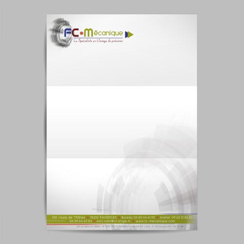Tête de lettre - FC Mécanique / C+ Communication