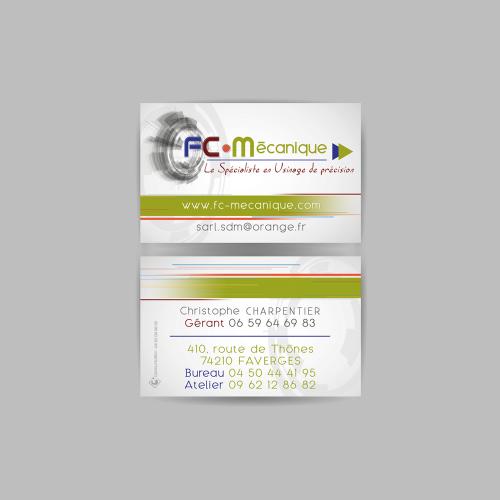 Carte commerciale - FC Mécanique / C+ Communication