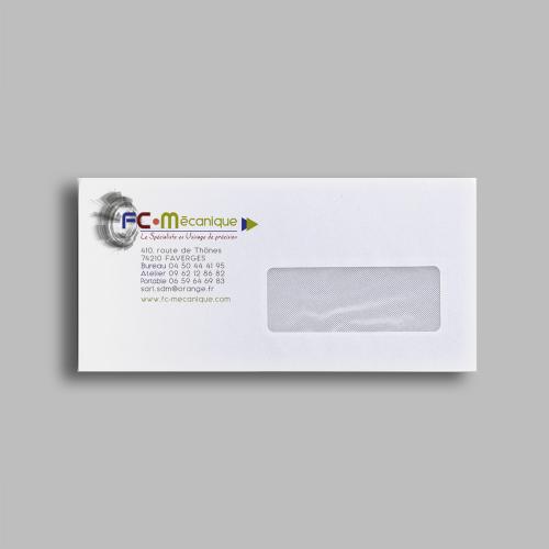 Enveloppe avec fenêtre - FC Mécanique / C+ Communication
