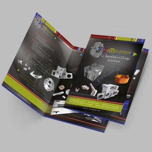 Plaquette A3 - FC Mécanique / C+ Communication