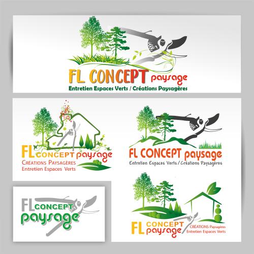 Propositions de logos - FL Concept paysage / C+ Communication