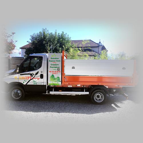 Habillage camion - FL Concept paysage / C+ Communication