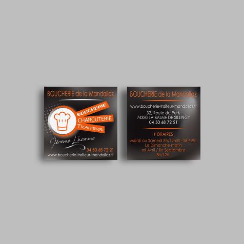 Carte commerciale - Boucherie de la Mandallaz / C+ Communication