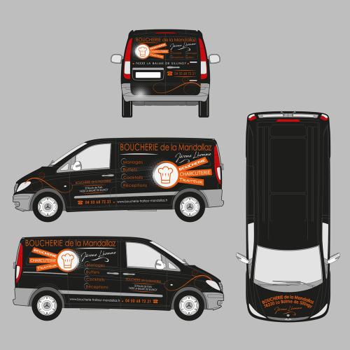 Habillage auto complet - Boucherie de la Mandallaz / C+ Communication