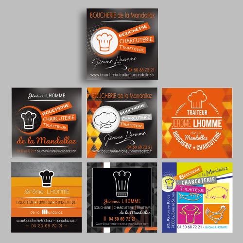 Evolution du logo - Boucherie de la Mandallaz / C+ Communication