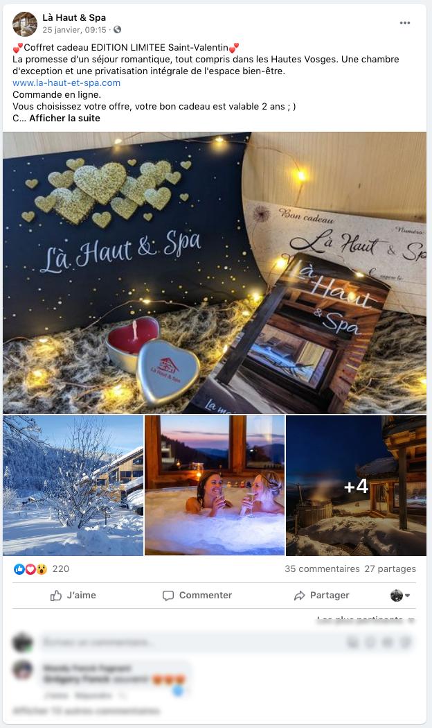 Post Facebook Saint Valentin