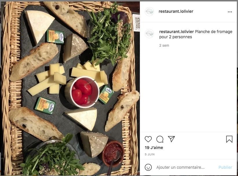 Présentation de plats : Restaurant L'Olivier