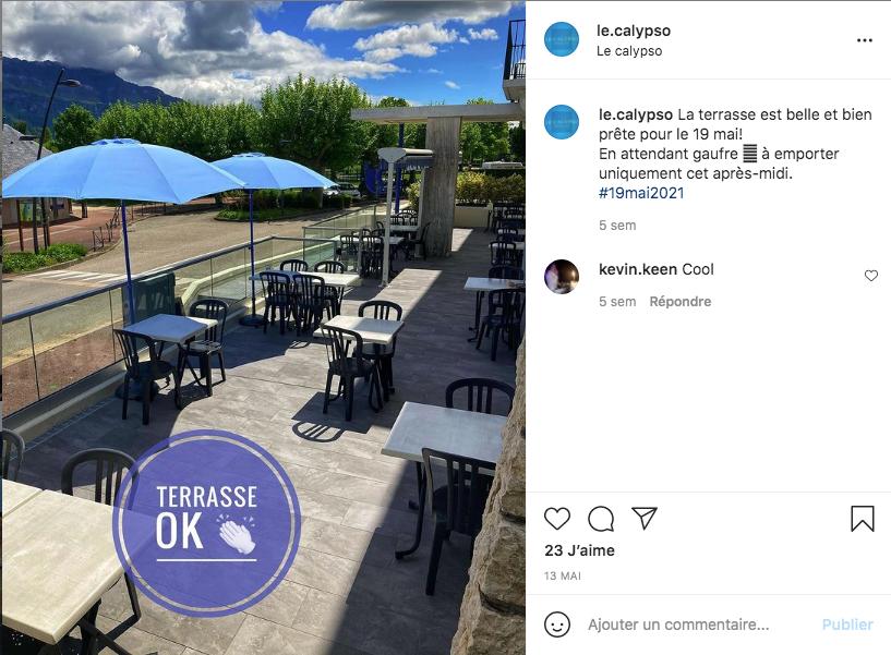 Ouverture de la Terrasse: Restaurant Le Calypso